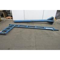 Gorbel 1/8 Ton 2500LB Free Standing Jib Crane 12' Span 10' Trolley Clearance
