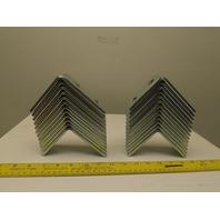 "Flex Strut FS-5123 3-1/2 x 4"" 90° 4 Hole Steel Corner Support Strap Angle Lot 25"
