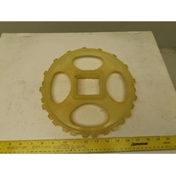 "10-1/4"" OD x 1"" 2 Row Staggered Tooth 32T Conveyor Chain Sprocket 2.5"" SB"