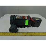 Reliance Boston Gear 10:1 Ratio 172RPM 3/4Hp 230/460V Gear Motor