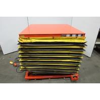 "Presto 4XW36-20 2000lb Hydraulic Scissor Lift Table 48x48"" Turn Top 8-43""H 115V"