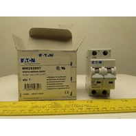 Eaton Cutler Hammer WMZS2D07 7AMP 2Pole Circuit Breaker DIN Rail Mount