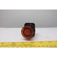 Allen Bradley 800H-FRXMQ24 A7 30mm Mushroom Amber Push Pull Switch W/Contacts