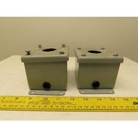 Hoffman E-1PB Single Push Button Enclosure 30mm Lot of 2