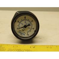 Festo 159596 0-10 Bar Air Pressure Gauge With Panel Mount Flange Ring