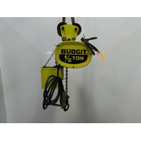 Budgit 116890-3 1/2Ton Electric Chain Hoist W/Trolley 15' Lift 16FPM 230/460V