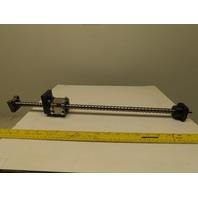 "15mm OD Linear Ball Screw 8mm Pitch W/ Nut 18"" Stroke CMM CNC DIY 23"" OAL"
