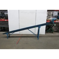"Incline Slider Bed Conveyor 12"" Wide Smooth Belt 15' OAL 26FPM 115V 1Ph"