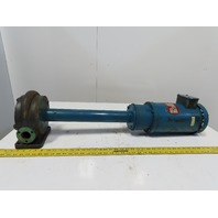 Gusher E2-18-LONG 2Hp Long Shaft Vertical Centrifugal Coolant Pump 230/460V 3Ph