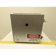 "Hoffman A10106CH Wall Mount Steel Electrical Enclosure Box w/Backplate 10x10x6"""