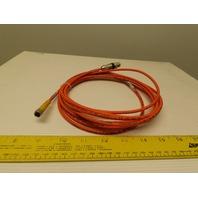 Turck U2518-55 Flexlife Cable 3x24 AWG M8x1 Threaded Coupling Nut 125V 2A Orange