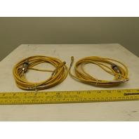 "Turck U2515-22 3M-10 56"" Picofast Female Connector Lot of 2"