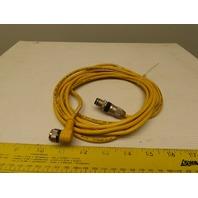 """Turck U2437-13 WK 4.43T-10 CORDSET 90° 4-PIN 300V Cable Assembly 140"""" Long"""