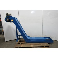 "Parts /Chip Incline Cleated Conveyor 12"" Wide 50"" Disc. 4FPM 108"" Long 200-220V"