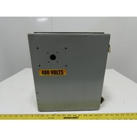 """Hoffman A14128-CH 14""""x12""""x8"""" Type 12, 13 Electrical Enclosure W/Back Plate"""