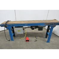 "82""x10"" Belt Slide Bed Conveyor Adjustable Height115V 1 Ph 71 FPM"