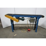 "84"" Long 10"" Belt Rough Surface Slide Bed Conveyor 115V Rough Surface"
