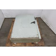 "Hoffman A-42SA3210LPPL Electrical enclosure W/Back Plate 42x32x10"" W/Operator"