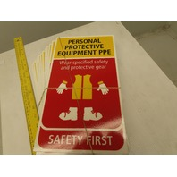 SAFETY FIRST Safe Working Reminder Placards ISO OSHA Lot Of 12 Different