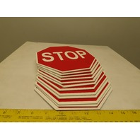 Single Sided Warehouse Factory Pedestrian Forklift Safety STOP Sign Lot Of 12