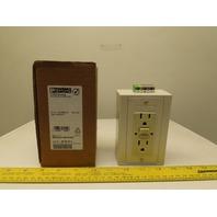 Phoenix Contact EM-DUO 120/15/GFI 5600462 Rail Mountable Double Socket Connector