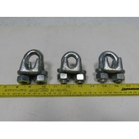 "5/8"" Wire Rope Clamp Drop Forged Lot Of 3"