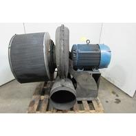 "Hauck 40Hp Fiberglass Turbo Blower W/Intake filter & 14"" Exhaust 230V/460V 3Ph"