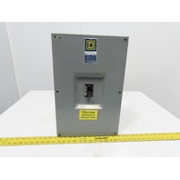 Square D KA-225-S 225A 600V Breaker Enclosure W/KAL-36125 125V Circuit Breaker 3P