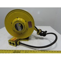 Daniel Woodhead Model 9383 800V 20A Retractable Cord Reel W/ 23' 12/3 Cable