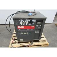 MAC 24M600C22 48V 451-600aH Forklift Battery Charger 24 Cell 208-230/460V Input