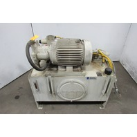 Rexroth A10VSO28 15Hp Hydraulic Power Unit 40 Gal 230/460V 22GPM 4000PSI Pump