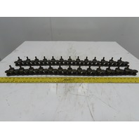 "#100 Roller Chain 34"" Long Alternating Long Pin And Roller Bearing Lot of 2"