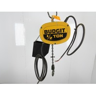 Budgit 115843-3 1/2 Ton Electric Chain Hoist 20' Travel 3 Phase