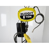 Budgit KELB0116 1 Ton Electric Chain Hoist 20' Travel 3 phase