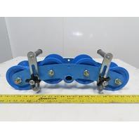 "Condux 18103530 Plastic 3"" 45° Corner Cable Block Guide 4 Roller"