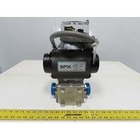 SPX C-1000SR4 120PSI Pneumatic Actuator 3-Way Sanitary Diverting Mixing Valve