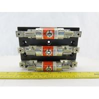 Ferraz Shawmut 61038J AJT80 600V 100A 3 Pole Fuse Holder W/Fuses