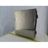 """Hoffman A1412NFSS 14x12x6"""" Stainless Steel Electrical Enclosure Removable Door"""