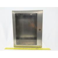 "Hoffman C-SD20166WSS Wall Mount Electrical Enclosure W/Back Plate JIC 20""x16""x6"""