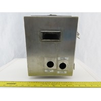 """Hoffman Wall Mount Electrical Enclosure JIC 10""""x 8""""x 4"""" Stainless Steel"""