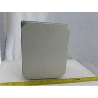 "Hoffman RHJ1008HWPL1LG 10x8x4.5"" Fiberglass Electrical Enclosure W/Back Plate"