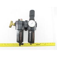 Norgren B74G-4AK-AD3-RMG & L74M-4AP-QDN Pneumatic Filter Regulator Lubricator