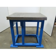 "40"" x 33"" x 3"" Thick Heavy Construction Machine Base Work Fabrication Bench"