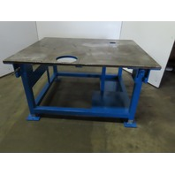 "60"" x 48"" Adjustable Height Work Bench Fabrication Machine Base See Info"