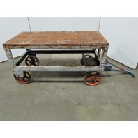 "Industrial Factory Cart Wagon Welding Table Machine Base 61-1/2""Lx 30""Wx32""H"