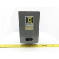 Square D 8536 SBG2 Ser A Starter 600V Size 0 W/120V Coil & Enclosure