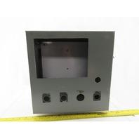 "12""x12""x6"" Electrical Enclosure Hinged W/Back Plate JIC"