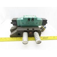 Numatics 123BB400KP00030 4/2 Position Solenoid Valve 120V Coil 50/60Hz Manifold