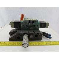 Numatics 124AA415K000030 4/2 Position Solenoid Valve 120V Coil 50/60Hz Manifold