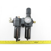 Norgren B74G-3AK-AD3-RMG & L74M-4AP-QDN Pneumatic Filter Regulator Lubricator